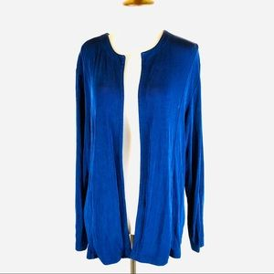 Chico's Travelers blue open front cardigan
